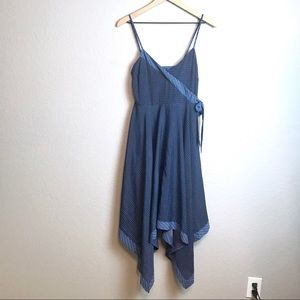 Banana Republic Faux Wrap Handkerchief Dress